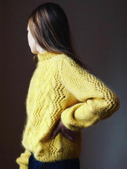 Knitting pattern for Copenhagen Sweater designed by June Thomsen for Yarn Lovers, in Önling No 1 and silk mohair