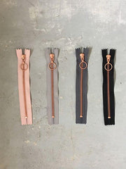 Copper zippers from Önling, 17 cm, 4 colors