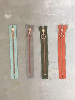 Copper zippers from Önling, 20 cm, 4 colors