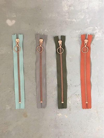 Copper zippers from Önling, 25 cm, 4 colors