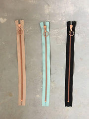 Copper zippers from Önling, 30 cm, 3 colors