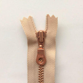 Copper zipper from Önling, 50 cm, beige