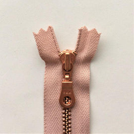 Copper zipper from Önling, 50 cm, light rose