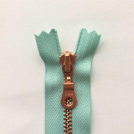 Copper zipper from Önling, 50 cm, light turquoise
