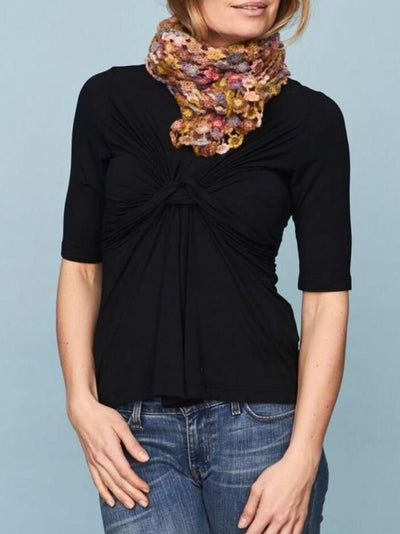 DEA Top with knot, Black Toppe 1_Önling