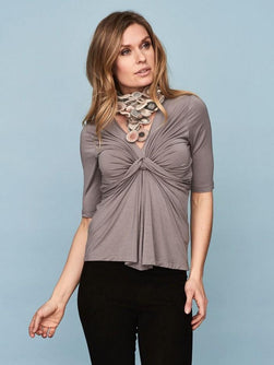 DEA Top with knot, Grey Toppe 1_Önling