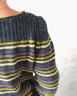 Dervish striped sweater knit in Isager Highland Wool and Tvinni - Önling knitting patterns and yarn