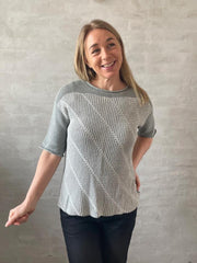 Dia blouse by Hanne Falkenberg, No 21 knitting kit Knitting kits Hanne Falkenberg