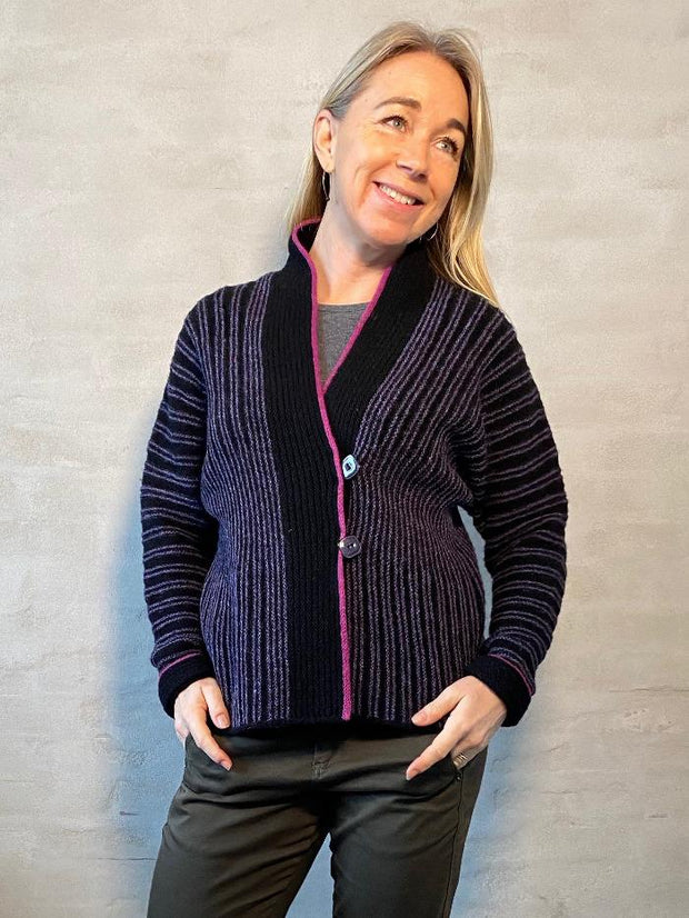 Donna jacket by Hanne Falkenberg, knitting kit Knitting kits Hanne Falkenberg
