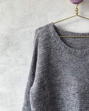 Dora sweater, knit in Isager Tvinni and Silk Mohair - Önling knitting patterns and yarn