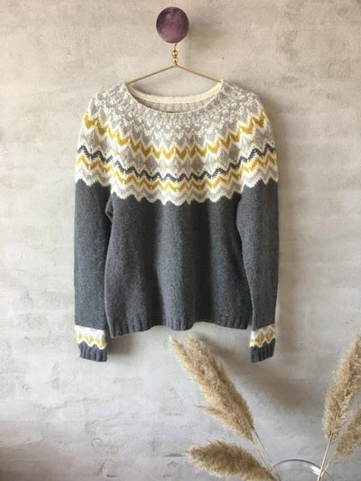 Draka Icelandic sweater knit in merino wool - Önling Nordic knitting patterns and yarn