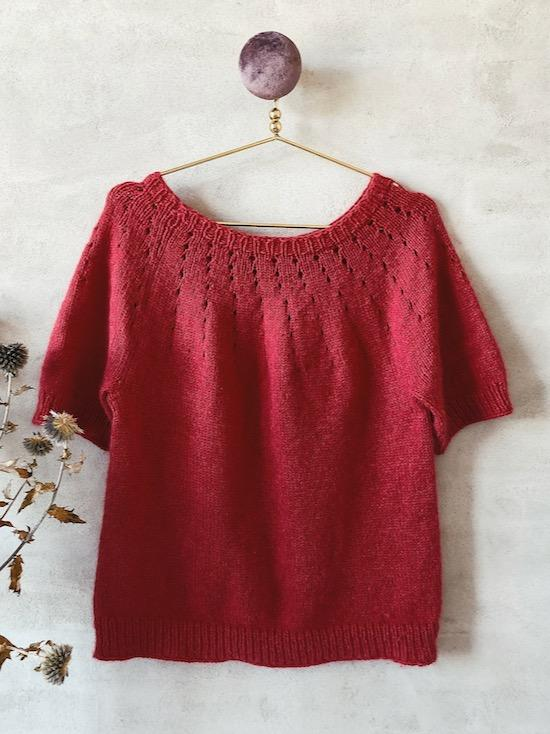 Easy Peasy Basic Sweater with short sleeves, knitting pattern