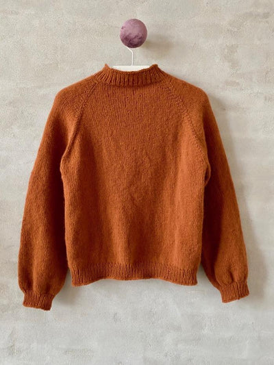 Easy Peasy sweater with raglan, cognac color from Önling