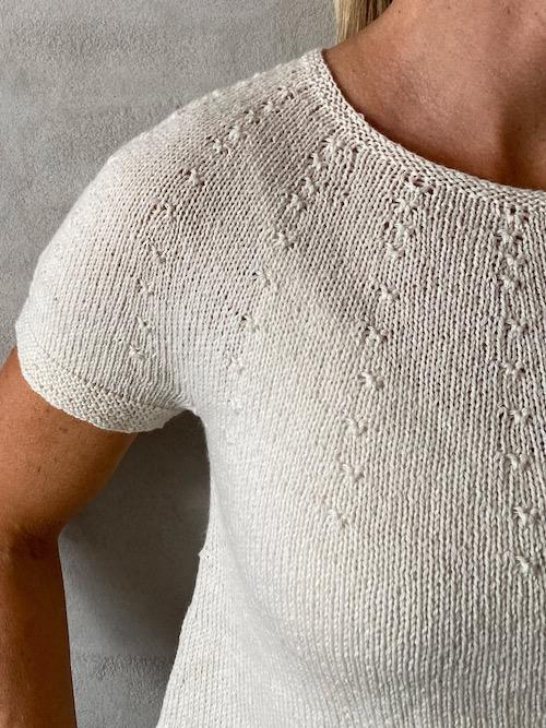 Edith summer top, knitting pattern Knitting patterns Önling - Katrine Hannibal