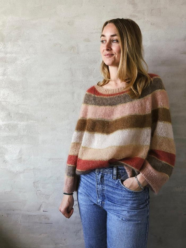 Fluffy fluffy sweater designed by Katrine Hannibal for Önling, in Isager silk mohair