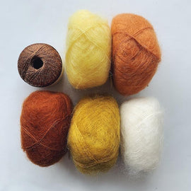 Yarn kit for Fluffy fluffy sweater, in 5 colors Mohair, önling no 10