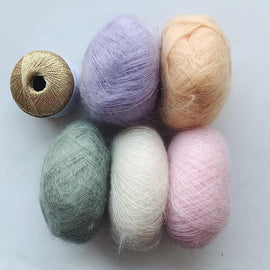 Pastel silk mohair for Fluffy Fluffy sweater