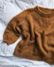 Fortune sweater by PetiteKnit, Isager mohair knitting kit