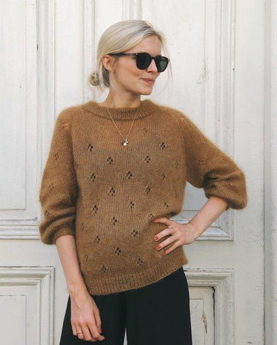 Fortune sweater fra Petiteknit, silk mohair strikkekit Strikkekit PetiteKnit