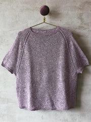 Knitting pattern for Freja summer T-shirt, in everyday yarn No 12