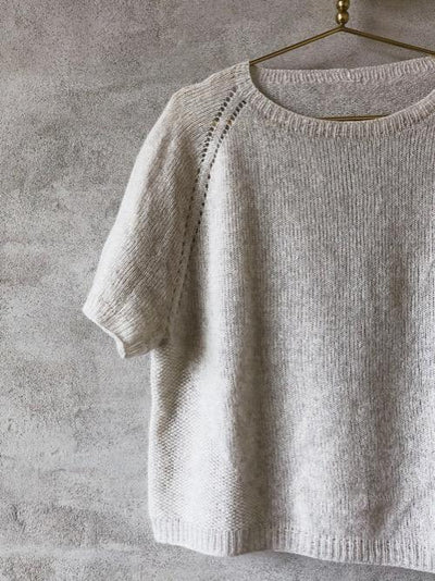 Knitting pattern for Freja summer T-shirt.