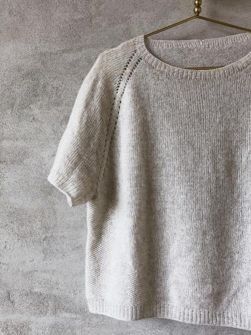 Freja summer T-shirt, No 11 knitting kit
