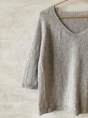 Frigga V-neck, Silk knitting kit