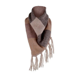 Ghita knitted scarf designed by Helga Isager, knitted in Isager Tvinni, Highland Wool and Silk Mohair yarn