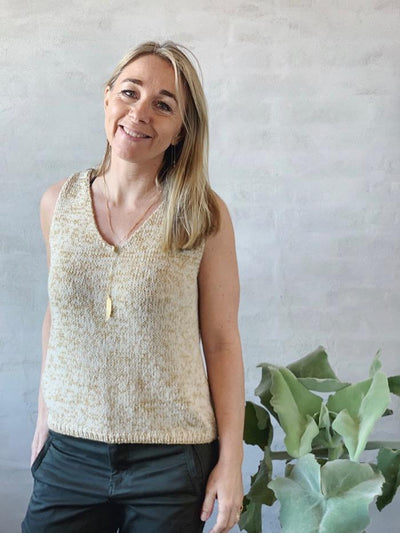 Knitting pattern for for Glitter Summer Tanktop