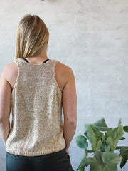 Knitting pattern for for Glitter Summer Tanktop in organic cotton from Krea Deluxe