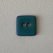 Hanne Falkenberg buttons, square, 25x25 mm Accessories Birthe Sahl Turquiose