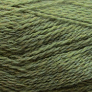 Isager Highland Wool yarn, the color Moss (green), made of 100 % Peruvian Highland Wool.