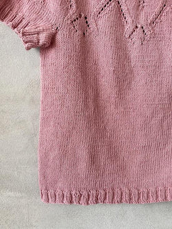 Knitting kit for Iris Summer Top with lace pattern in our new Önling No 14, GOTS certified organic cotton and linen, in rose