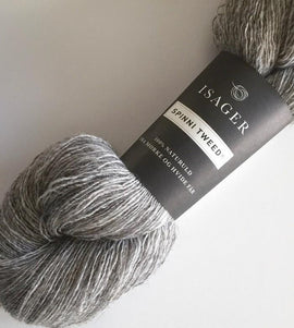 Isager Spinni wool yarn, color 3s light grey,