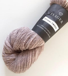 Isager Spinni wool yarn, color 61s grey rose