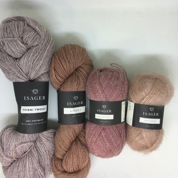 Lone cardigan, Isager knitting kit