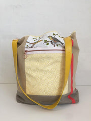 One of a kind bag with vintage embroidery, hand made in Denmark for Önling
