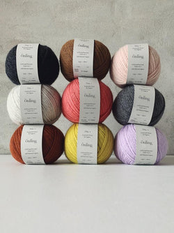 Önling No 1 is sustainable yarn made of merino wool and angora.