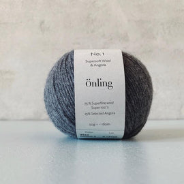 Önling No 1 is sustainable yarn made of merino wool and angora, dark grey