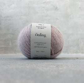 Önling No 1 is sustainable yarn made of merino wool and angora, dusty rose