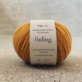 Önling No 11, sustainable merino/cashmere yarn Yarn Önling Curry (08)