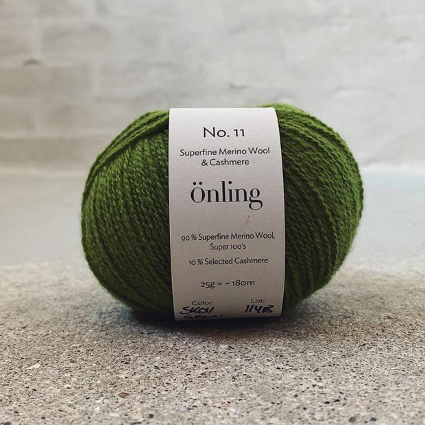 Önling No 11, sustainable merino/cashmere yarn Yarn Önling Forest green (66)