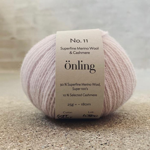 Önling No 11, sustainable merino/cashmere yarn Yarn Önling Soft light pink (62)