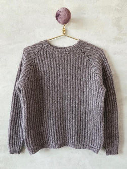 Knitting pattern for Petra brioche sweater.