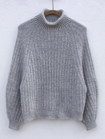 Ribbed Jumper af Anne Ventzel, No 16 + Silk mohair kit Strikkekit Anne Ventzel