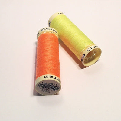 Sewing Thread in yellow and orange