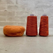 Strikkekit til silke mohair sweater i Önling No 6, 7 og silk mohair, brændt orange