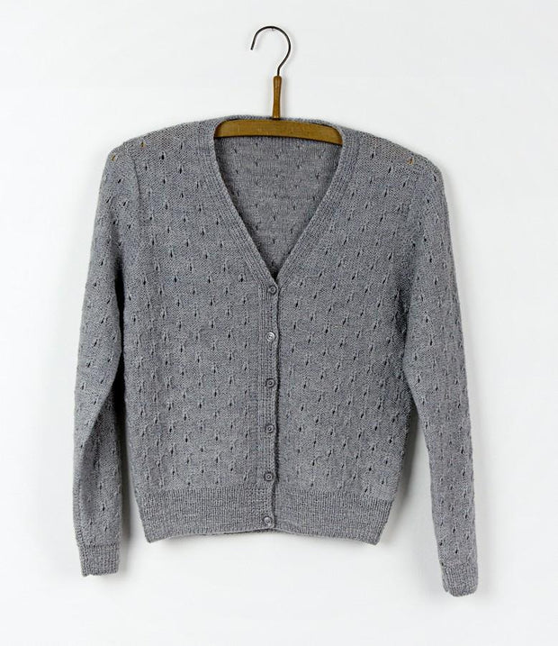 Silver cardigan, Isager knitting kit