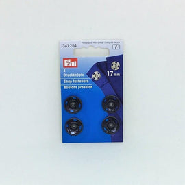 Black snap fasteners from Prym, 17 mm