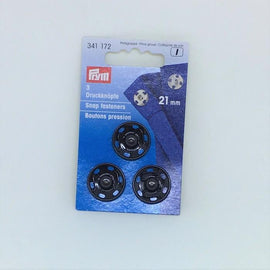 Black snap fasteners from Prym, 21 mm